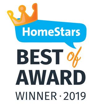 HomeStars Best of Award Winner 2019